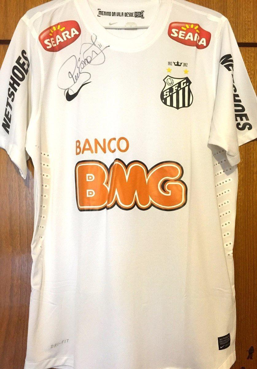 camisa santos 2013 de jogo autografada neymar   ganso. Carregando zoom. 99f4d8d1357ce