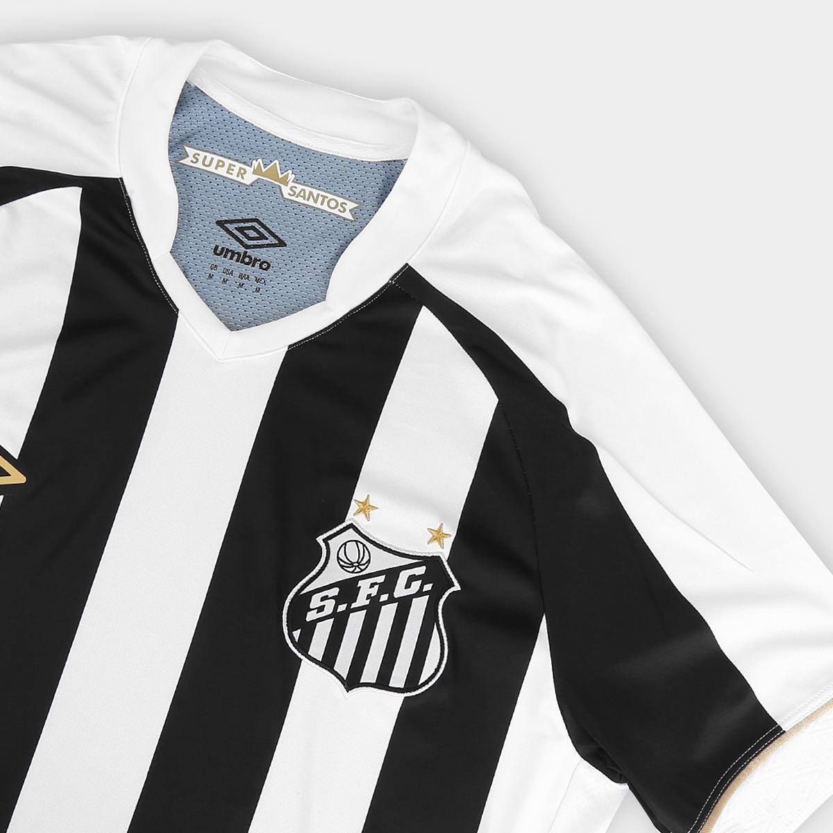 Camisa Santos 2018 S n° Torcedor Masculina Promoção Preto - R  129 ... bb2b6b02eebbb