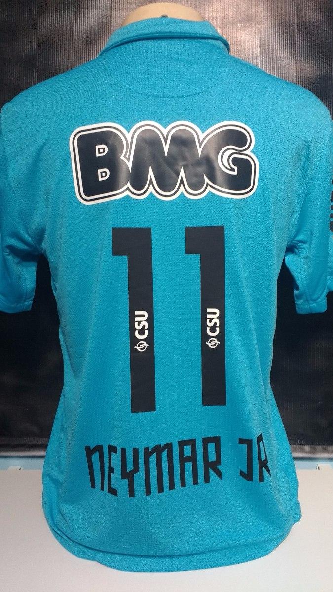 83a4583352236 camisa santos azul centenário neymar tri campeão- veja vídeo. Carregando  zoom.