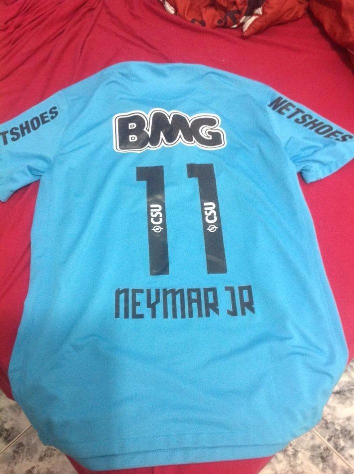 camisa santos azul turquesa neymar jr 11. Carregando zoom. ef050bf2e3bd6