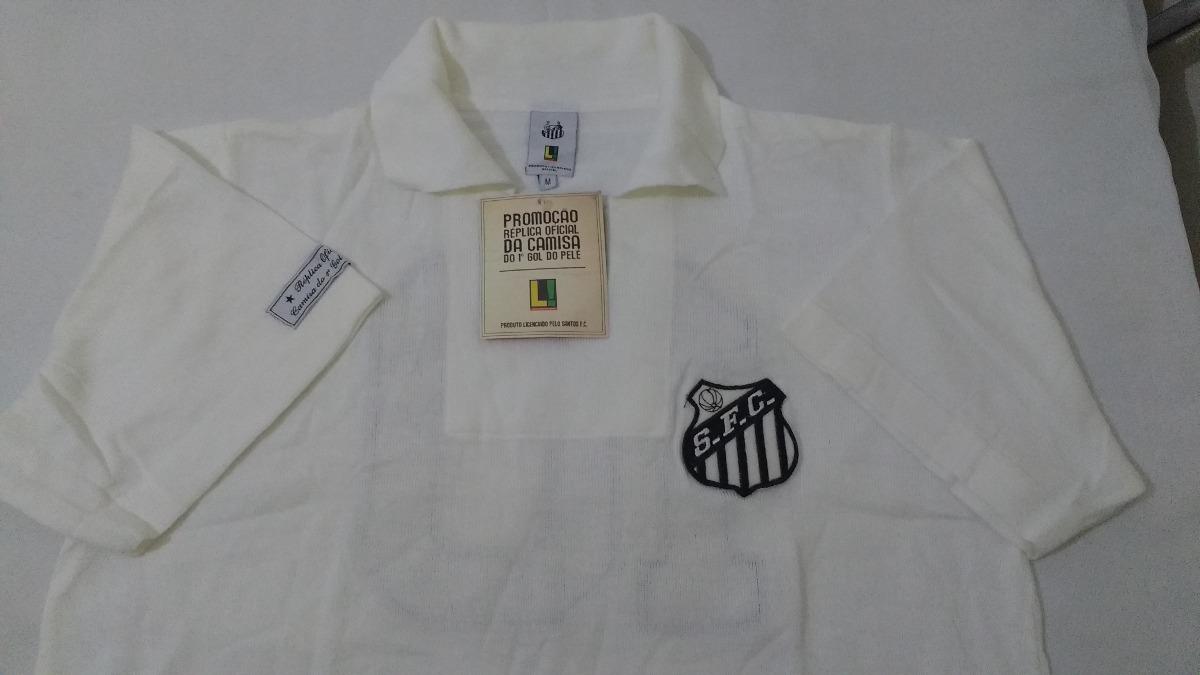 ... réplica oficial camisa do 1° gol pelé · camisa santos camisa.  Carregando zoom. 015c005c3823f