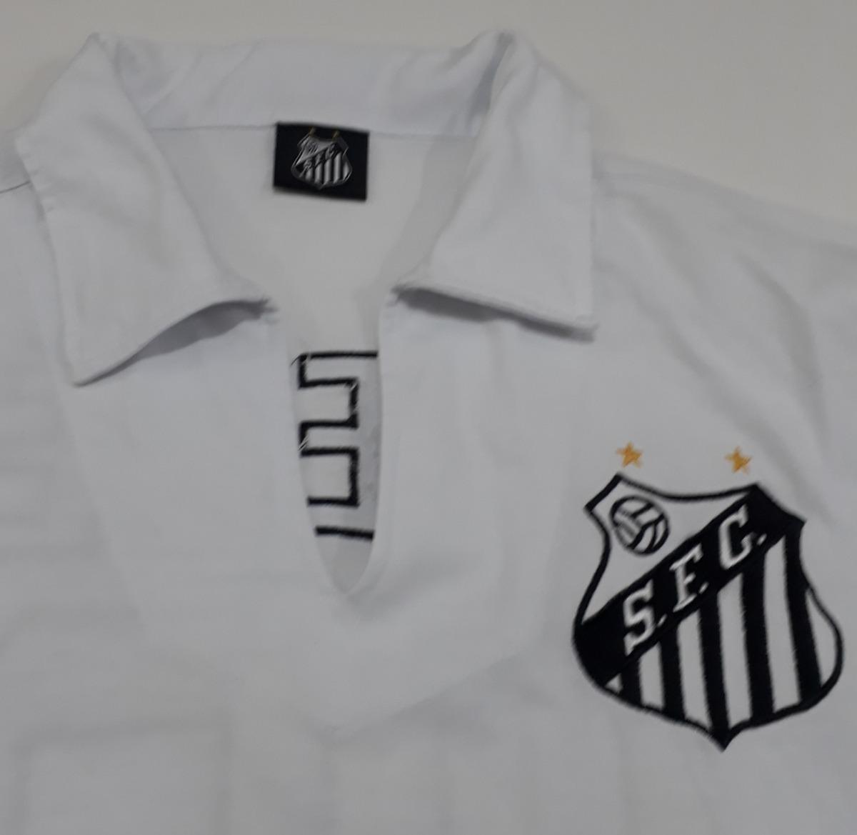 c04373ccfe Camisa Santos Do Rei Pelé Algodão Nova Retrô - Pd - R$ 120,00 em ...