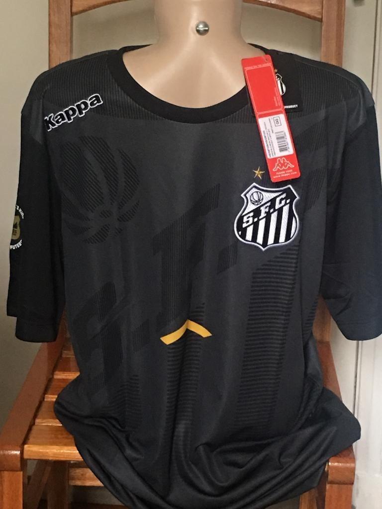camisa santos fc - preta - kappa - mod. 2017. Carregando zoom. 2b9ace8d93829
