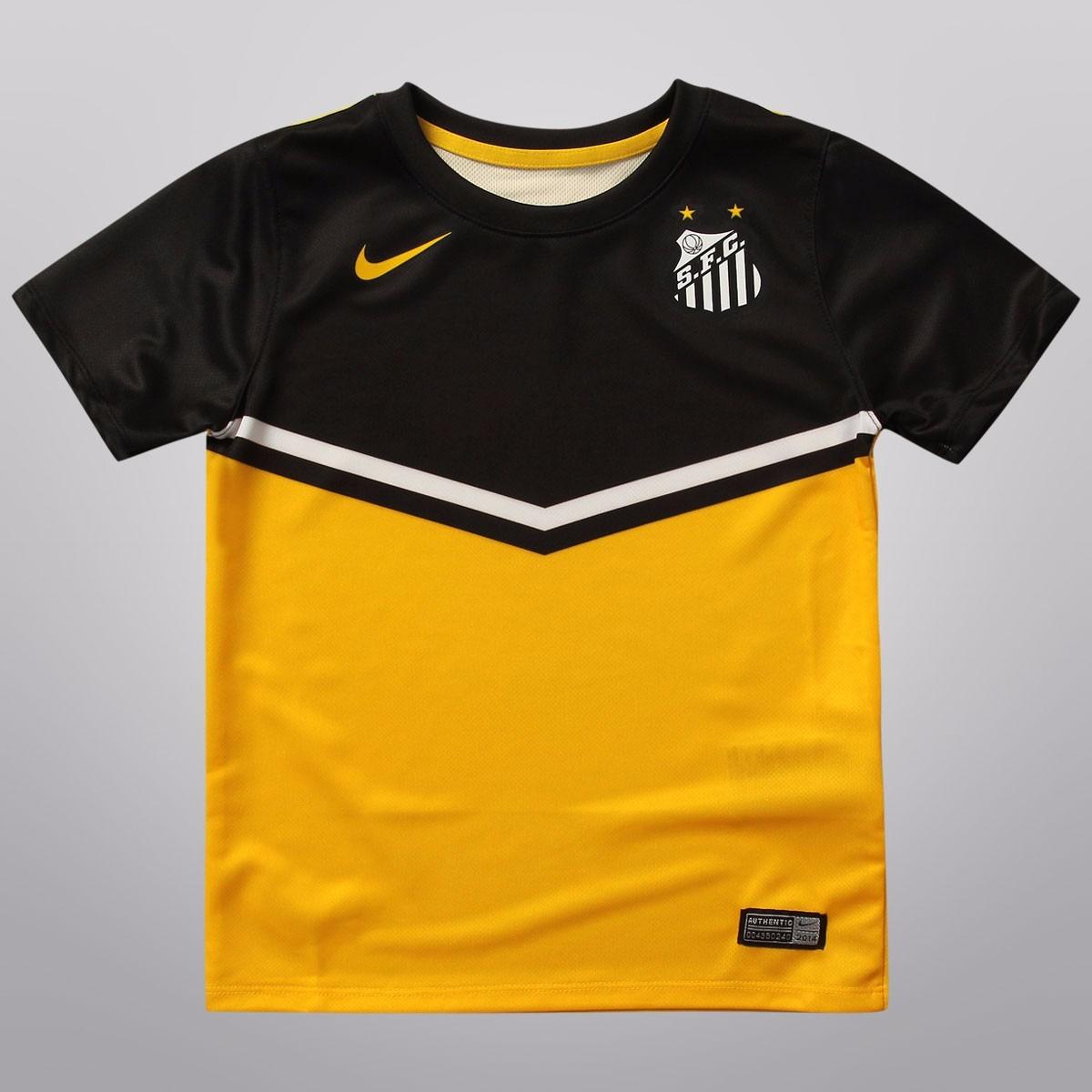 camisa santos feminina nike amarela uniforme ill. Carregando zoom. 2905275932461