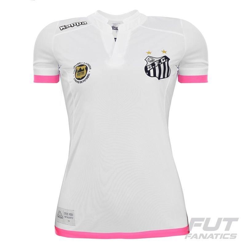 5b5c98e4237fe camisa santos feminina oficial kappa 2016 2017 rosa nova! Carregando zoom.