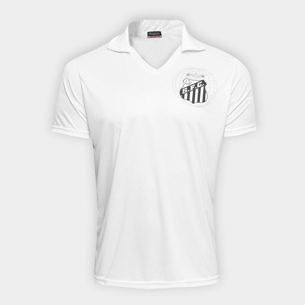 ca3dfb0771 Camisa Santos Kappa Branca Futebol Campeao Vila Santista - R  120