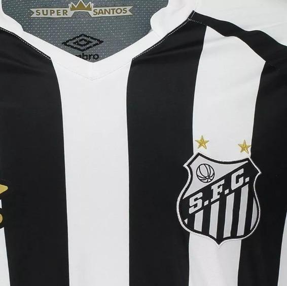 a3acfee0d9bd2 Camisa Santos Ii 2018 S n° Oficial Torcedor Umbro Masculina - R  155 ...