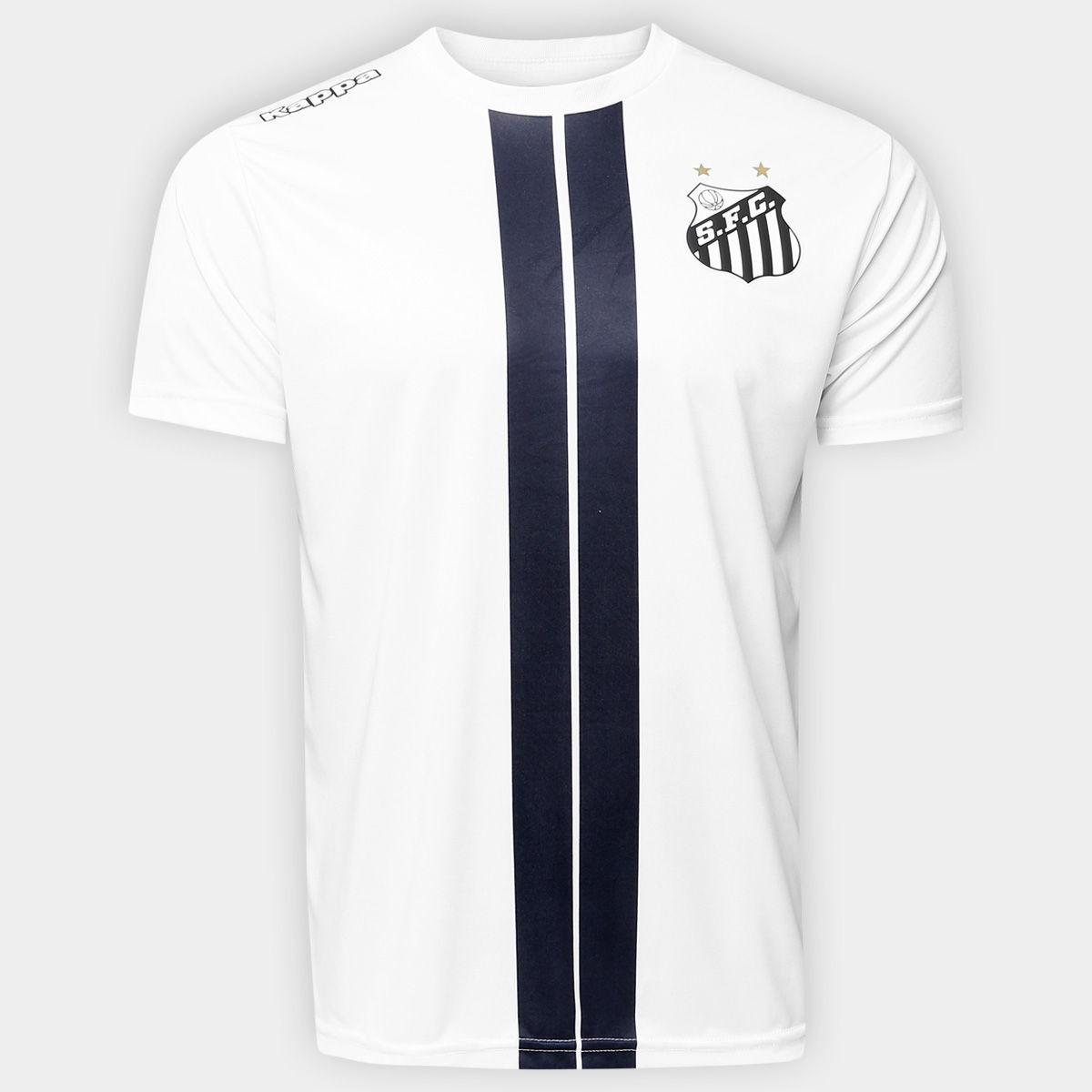 af783fd7b1 Camisa Santos Kappa Branca Masculina Original Dorval Peixe - R  120 ...