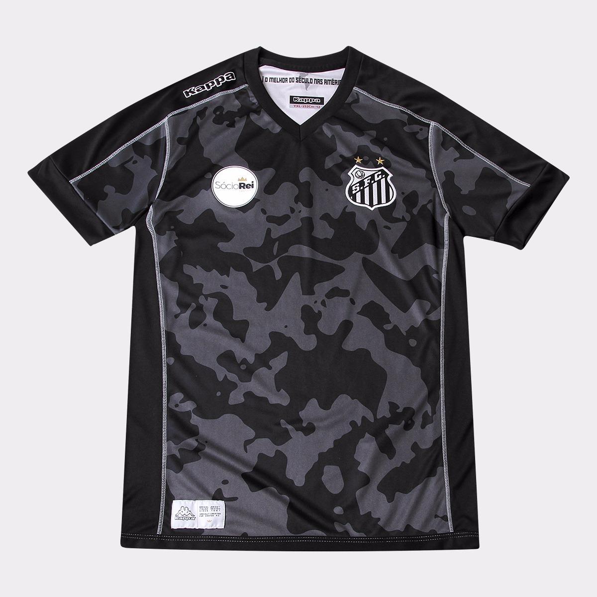 camisa santos kappa juvenil oficial uniforme ill 2017 2018. Carregando zoom. 1036921824b86