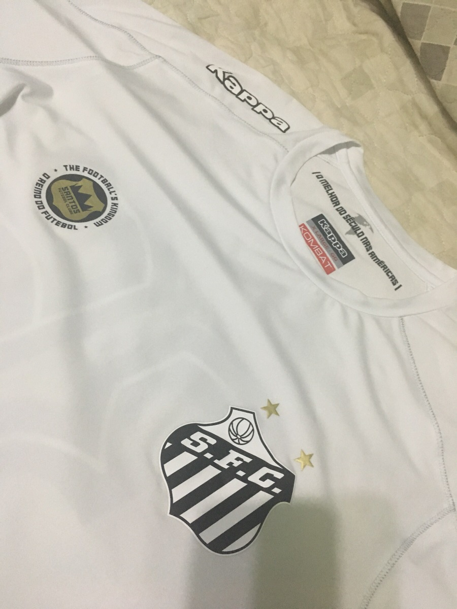 camisa santos kappa oficial modelo jogo  36 copete gg 2016. Carregando zoom. b828dca503347