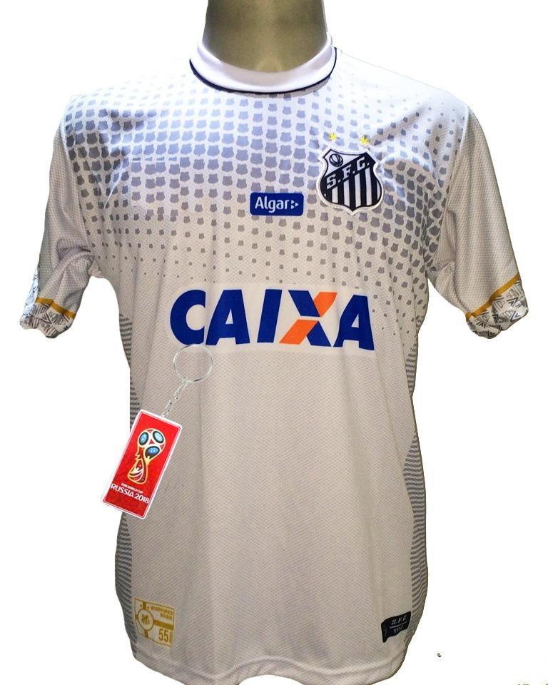1bc284d1767ab Camisa Santos Listrada 2018 2019 Preta Branca Peixe Nova - R  29