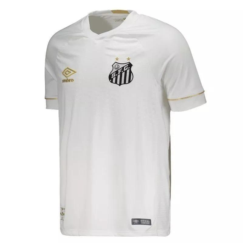 Camisa Santos 2018 Torcedor Umbro Masculina Branco Original - R  179 ... 39ca6fb75d892