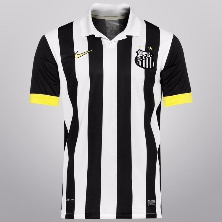 66b17c022a2a7 Camisa Santos Nike 2014 Preta   Branca. Promoção 24 Hs - R  120