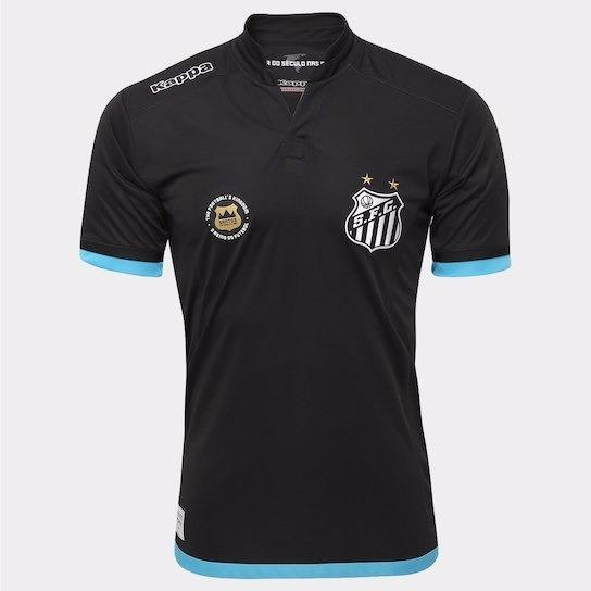 6626f04f30 Camisa Santos Oficial Jogador Goleiro Kappa Kombat 2016 2017 - R  159
