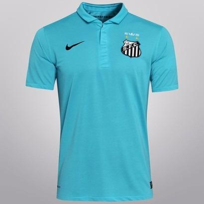 bfa17a2fe2 Camisa Santos Original Nike Azul Pronta Entrega - R  180