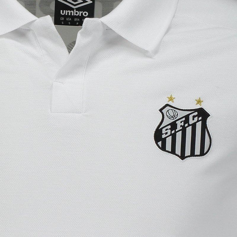 a97f7f1ba8 Camisa Santos Polo Viagem 2018 Oficial Umbro C  Nota Fiscal - R  128 ...