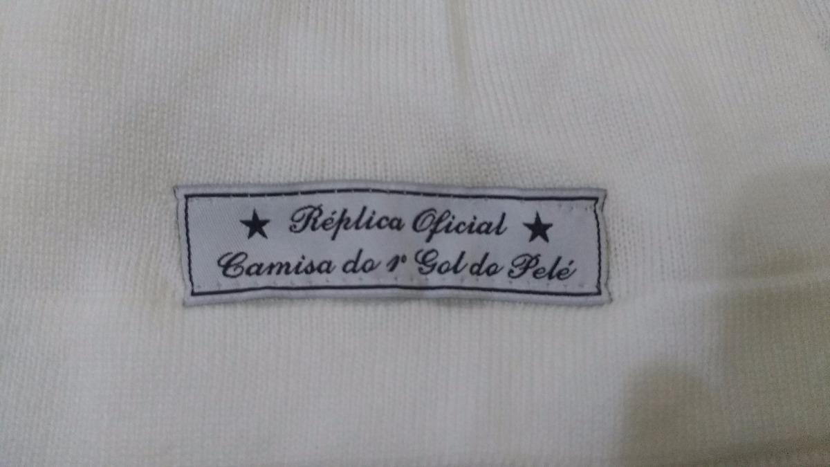 camisa santos - réplica oficial camisa do 1° gol pelé. Carregando zoom. dcbd88d04d726