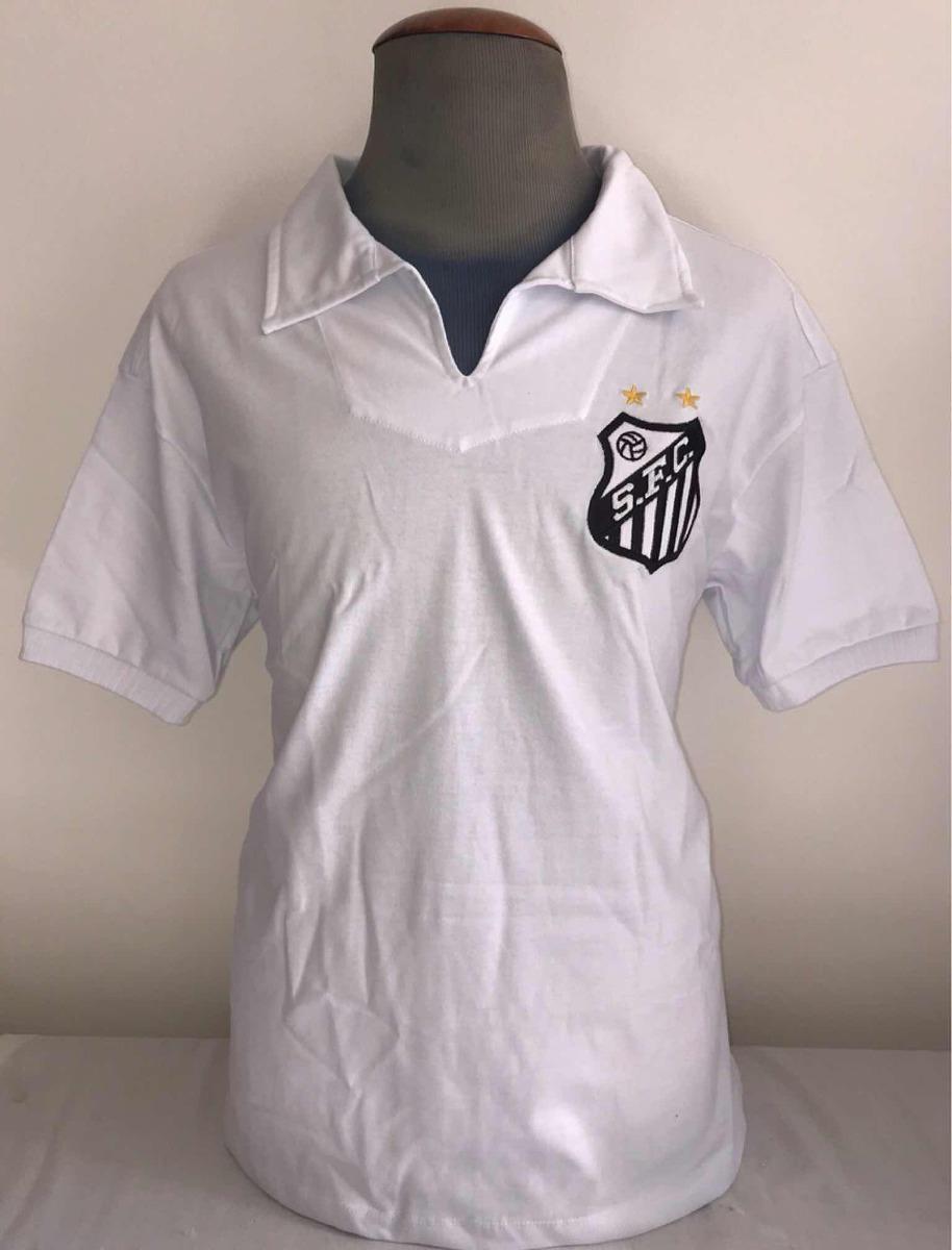 Camisa Santos Retro Anos 1960 Oficial Athleta + Autenticidad - R ... 399504edd8629