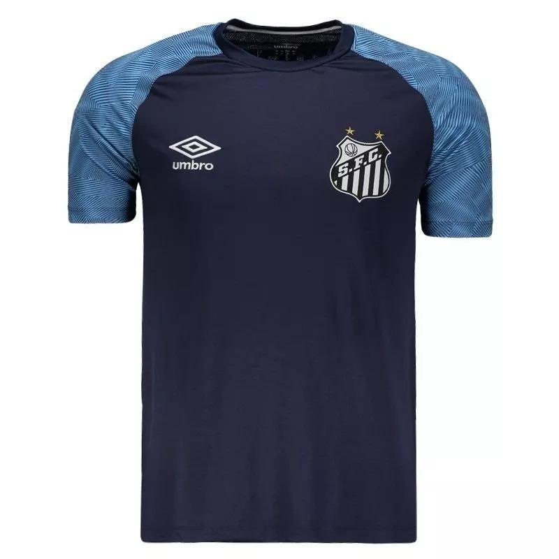 fae52ea4f8b Camisa Santos Treino Oficial Umbro 2018   2019 Azul Marinho - R  119 ...