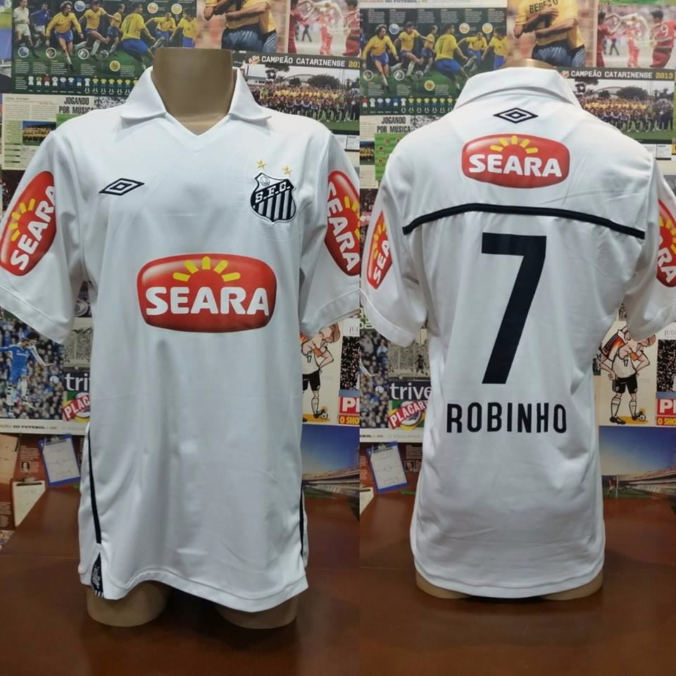 496a99cf4e camisa santos - umbro -  7 robinho - gg - 2010. Carregando zoom.