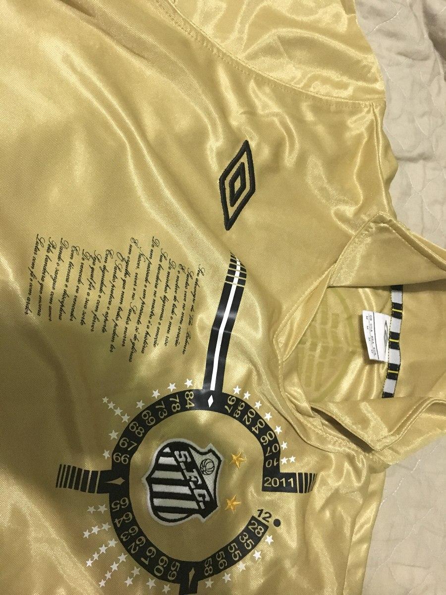 3dfbcf4a30e08 Camisa Santos Umbro Edição Especial Dourada Rara E Única M - R  230 ...