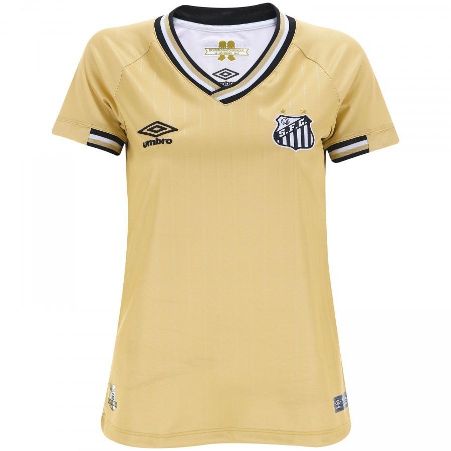 camisa santos umbro ill feminina dourada 2018. Carregando zoom. 73a97b1fbedb6