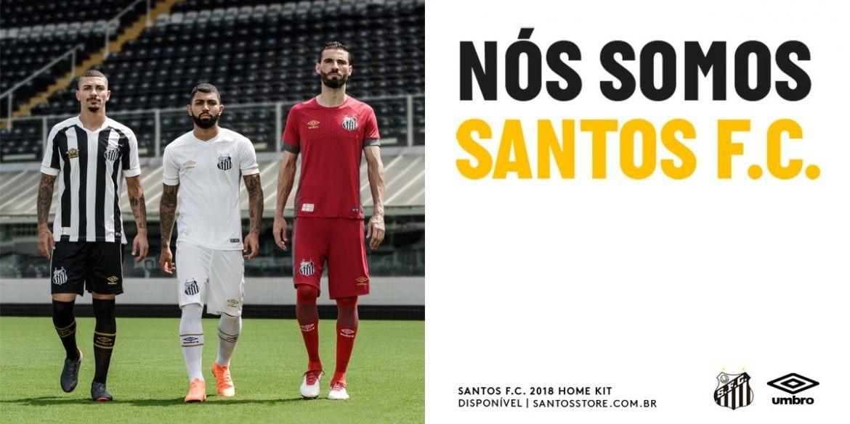 camisa santos umbro oficial 2018 lancamento preta ll. Carregando zoom. 1225249ce39cc