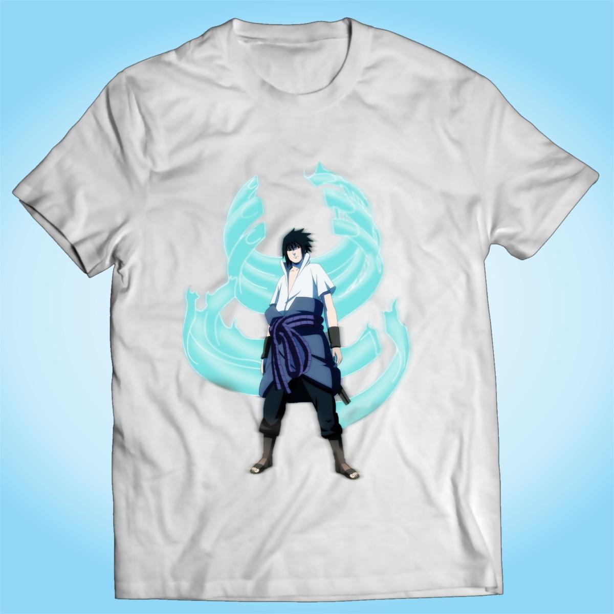 Camisa Sasuke Uchiha Naruto Desenho Anime Otaku Tv R