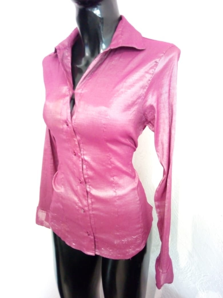 3a61764d65b1 Camisa Satinada Con Brillo Talla L Marissa - $ 35.00