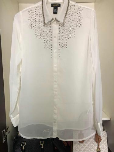 camisa seda colcci