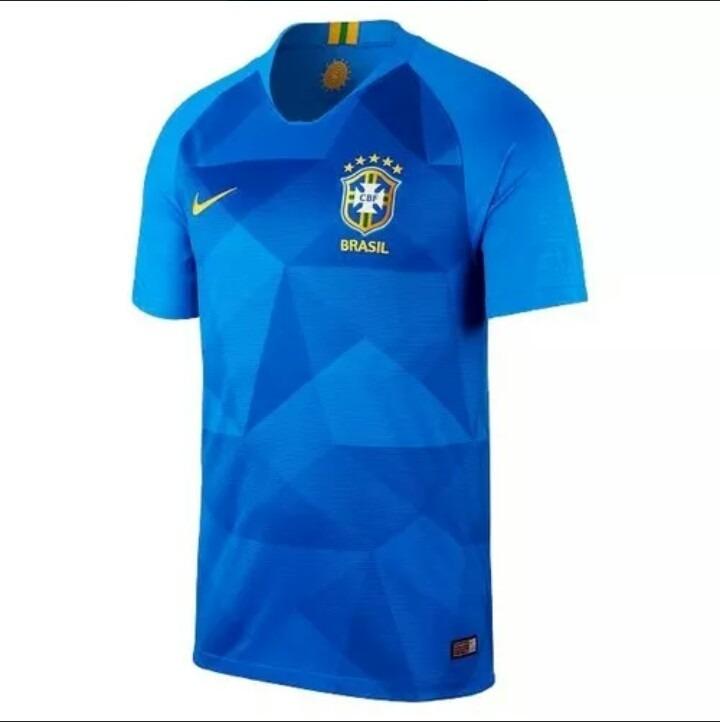 Camisa Selecao Brasil Azul Neymar Copa Do Mundo 2018 - R  120 2cebd1fb4b003