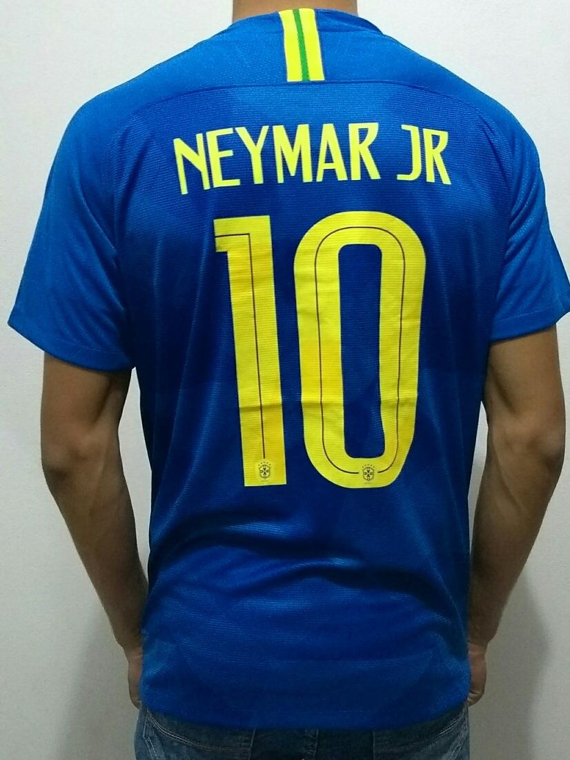 camisa selecao brasil azul neymar copa do mundo 2018. Carregando zoom. 8092362bccb34