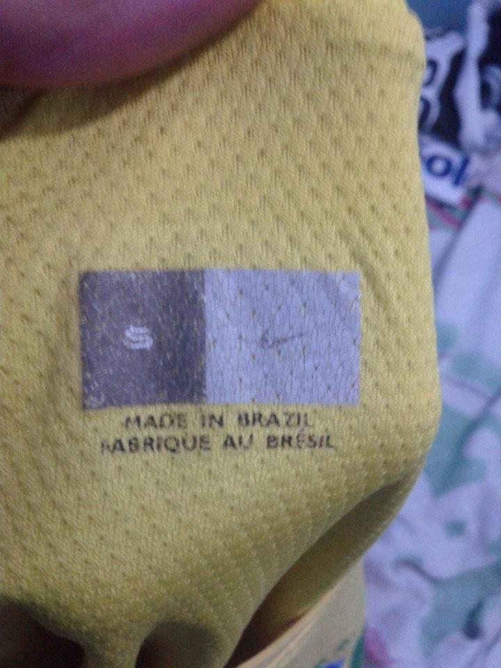 1dd9d6d31 camisa selecao brasileira 2002 de jogo - duplo tecido rara. Carregando zoom.