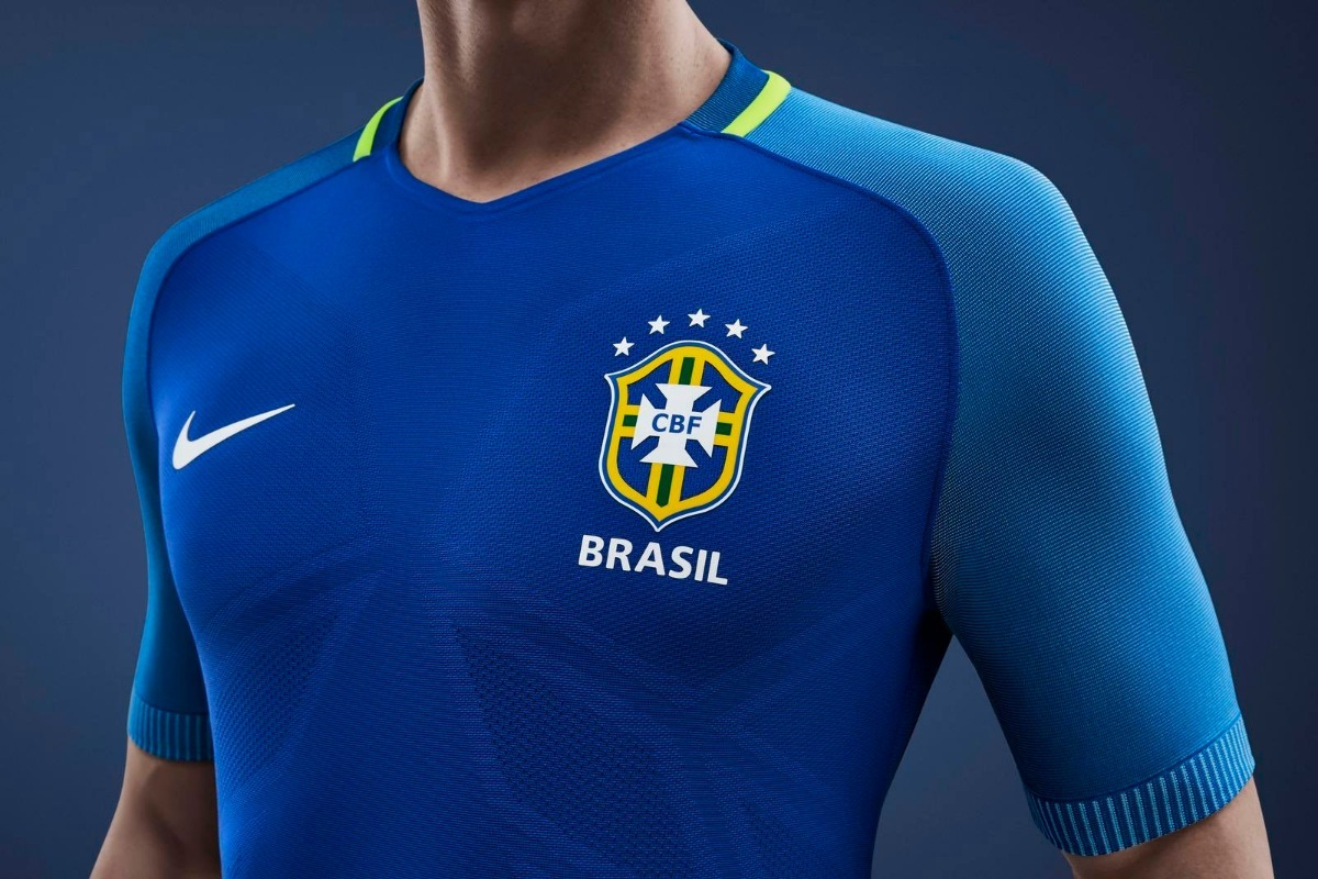 09cd490f30 camisa selecao brasileira camiseta brasil azul 2016 oferta. Carregando zoom.