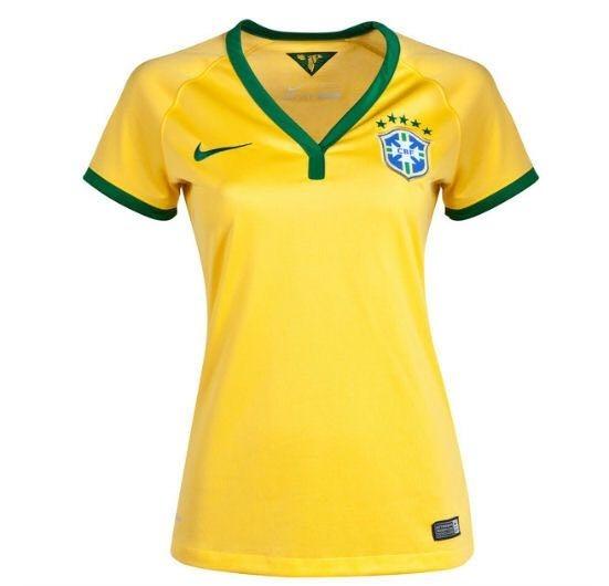 18bab6f6ea535 Camisa Seleçao Brasileira Original Feminina + Melhor Preço - R  120 ...