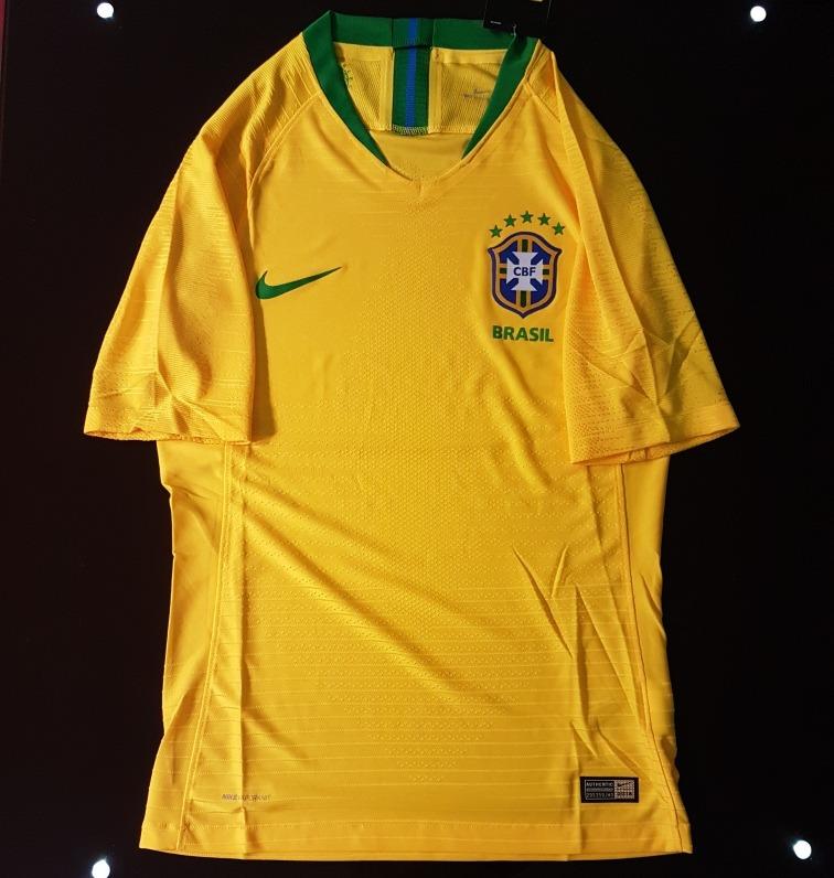 b01ec1d89 Camisa Seleçao Brasileira Versão Jogador 2018   2019 Nike - R  160 ...