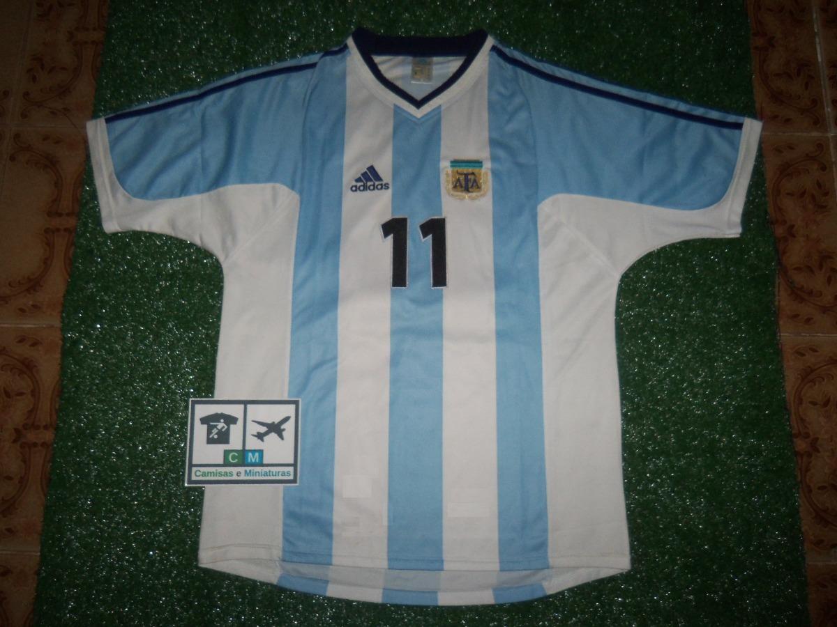 f5f5421fb8 Camisa Seleção Argentina 2001 adidas Home  11 Verón Imp - R  180