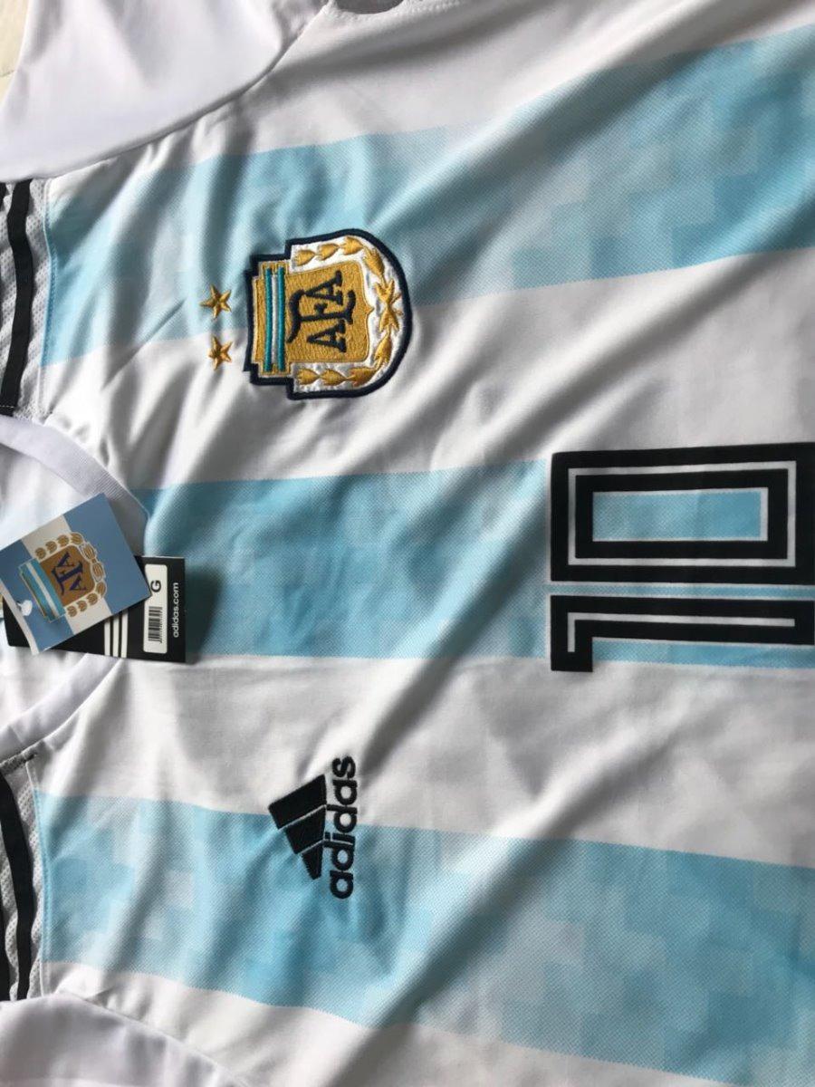 0640b200d4 Nova Camisa Seleção Argentina Copa Russia 1 Uniforme Bordada - R  79 ...