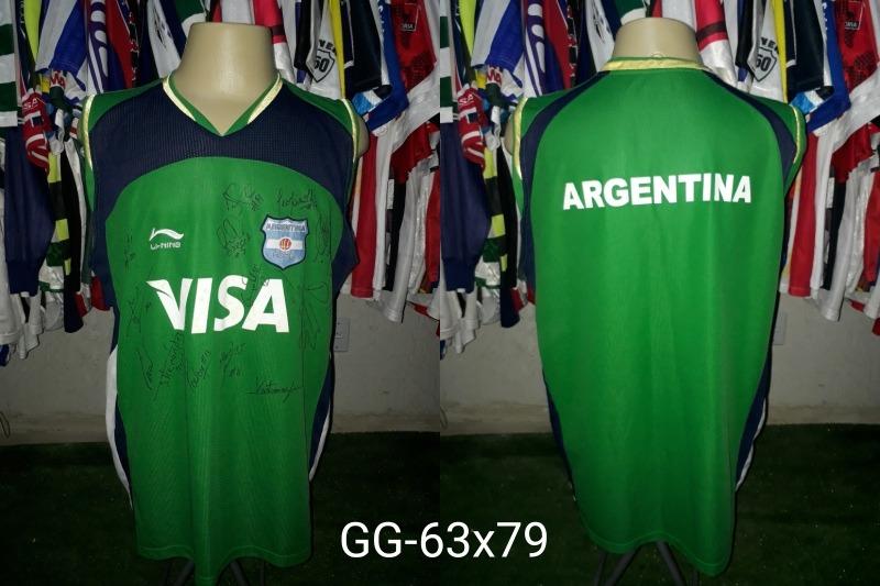 camisa seleção argentina de basquete toda autografada. Carregando zoom. 1296f6a3882dc