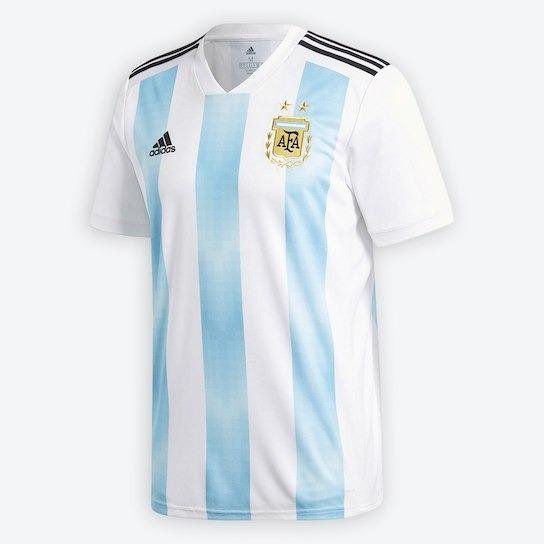 de3ecc756f8a8 Camisa Seleção Argentina Home 2018 Sn°- Kickesporte - R  138