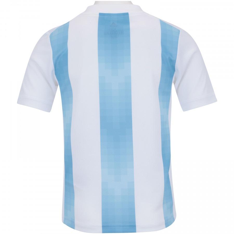 camisa se eção argentina home 2018 n 2 mercado torcedor adidas mascu ... 141b0564b3a07