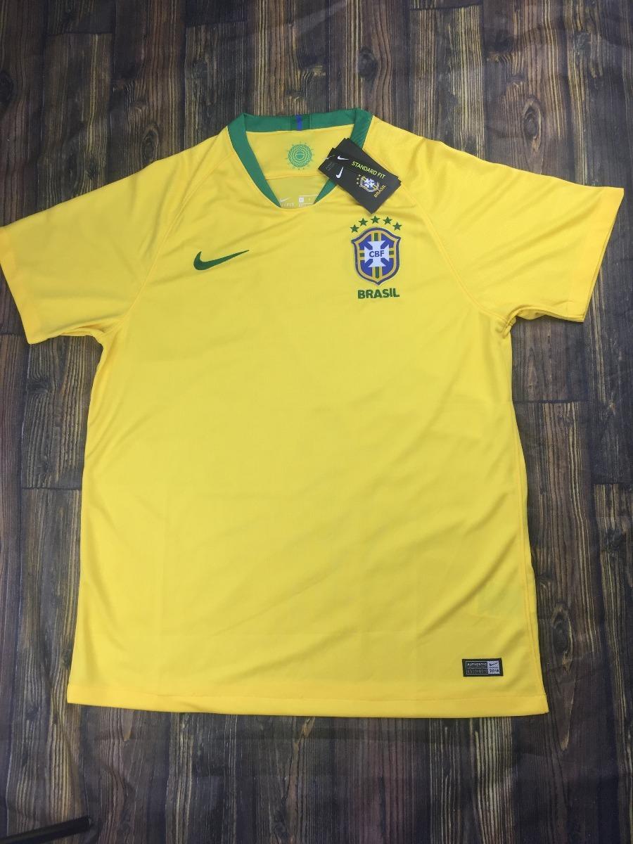 camisa seleção brasil 2018 s n° torcedor nike masculina. Carregando zoom. 6f008a345b807