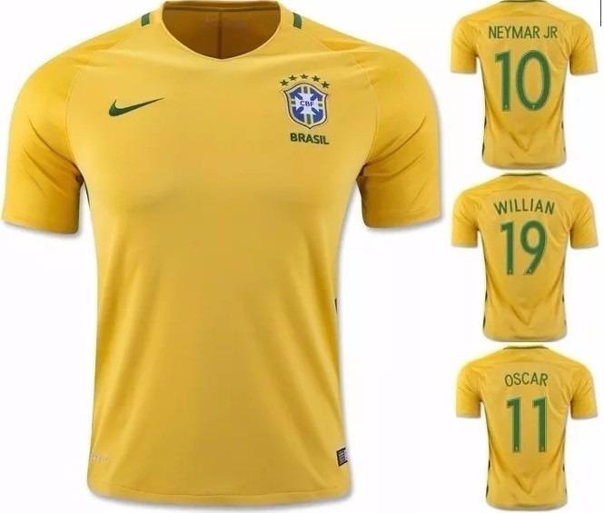 ed73776e78 Camisa Seleção Brasileira Brasil 2016   2017 - Frete Grátis - R  125 ...