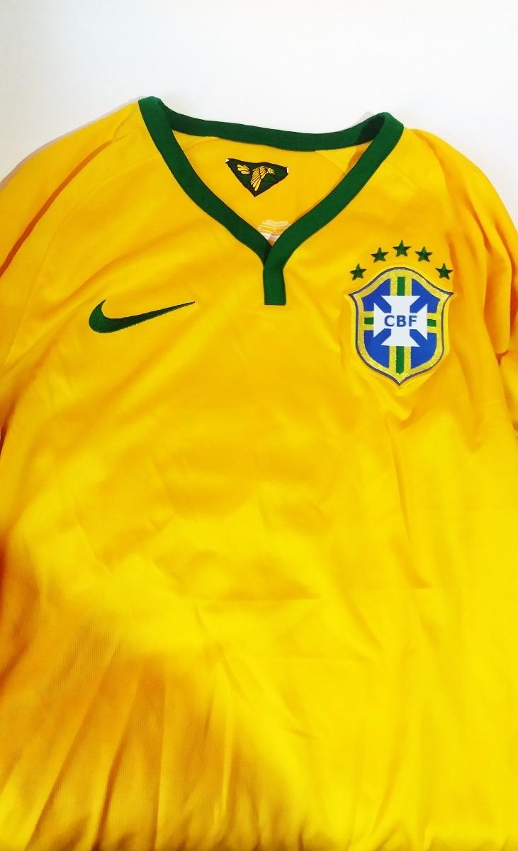 e5b471e217 Camisa I Seleção Brasil Copa 2014 Nike Amarela Cbf Original - R  89 ...