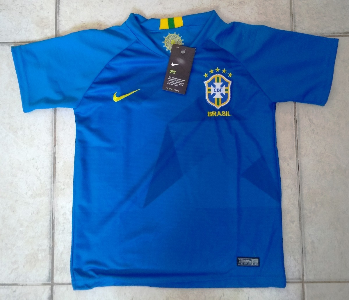 Camisa Seleção Brasil Away Infantil 2018 19 - Sem Número - R  100 05a90b90ab3ad