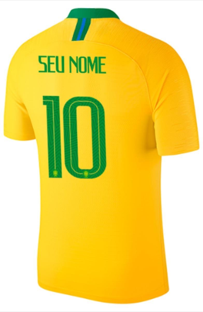 Camisa Seleção Brasil - Personalizado Nome E Numero - R  79 37a7c2af7ad13