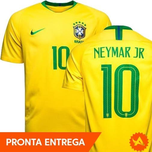 Camisa Seleção Brasil Amarela Nike Original - Nº10 Neymar Jr - R ... a0e8de00d1c12