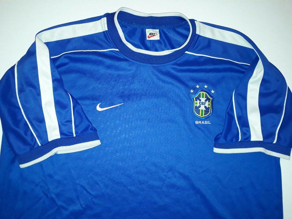 6933f47383 camisa seleção brasil azul copa frança 1998 orig nike - 36. Carregando zoom.