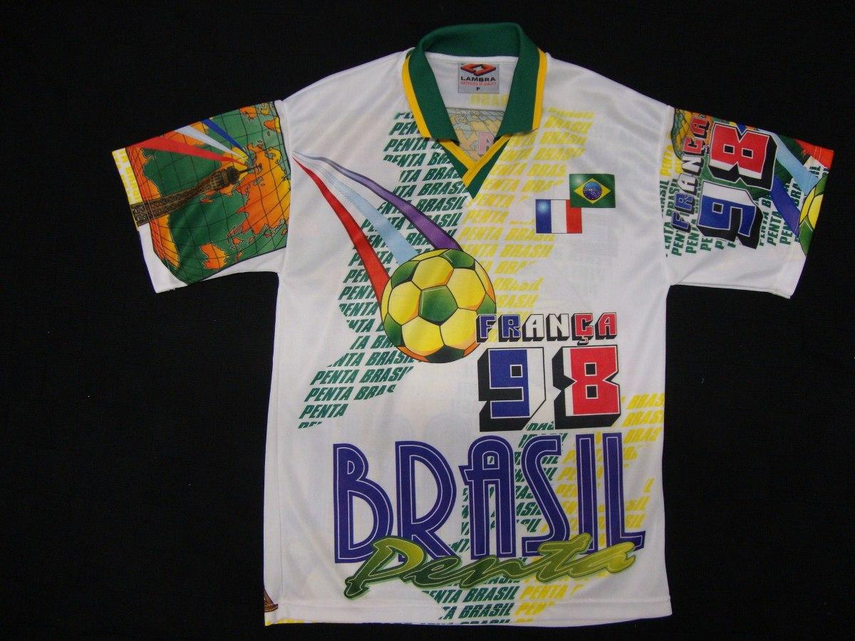 870fac9ad1 camisa seleção brasil   frança comemorativa copa 1998 tam. p. Carregando  zoom.