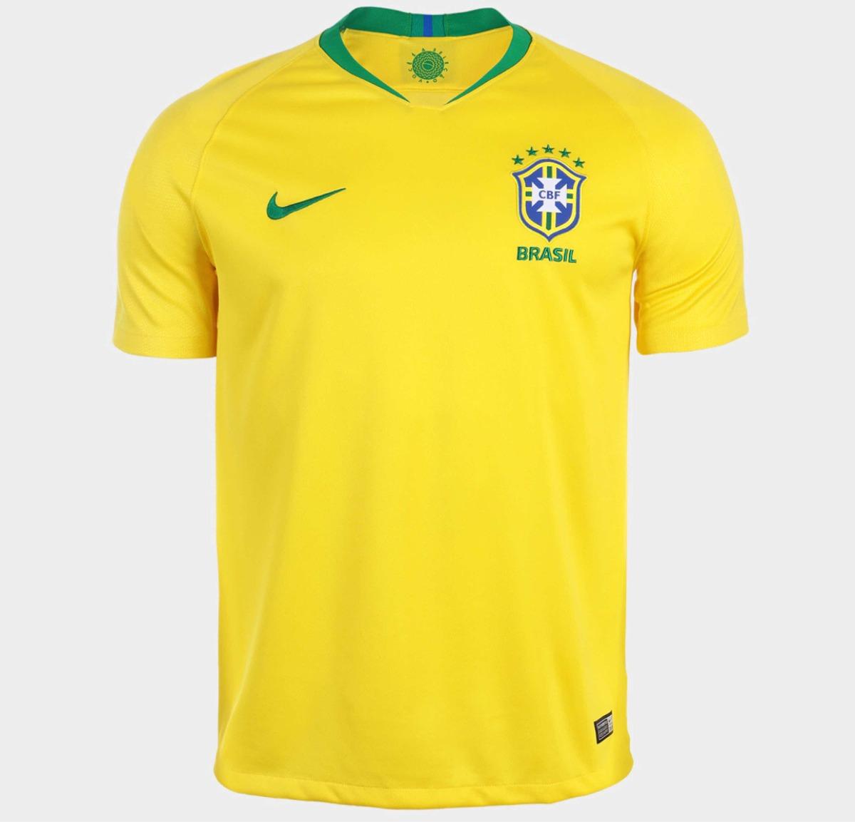 6fb53100c2 camisa seleção brasil home nike 2018(original). Carregando zoom.
